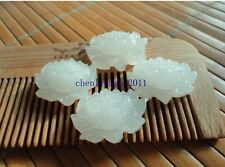 woman Fine genuine Hetian white jade lotus pendant