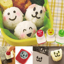 Cute Smile Nori Sushi Rice Mold Decor Cutter Bento Maker Sandwich DIY Tool 3pcs