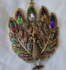 LARGE ~ PEACOCK  _ NECKLACE  -- (GREAT_CHRISTMAS_GIFT)