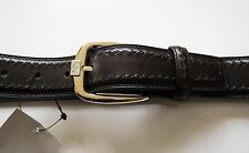$700 NEW BRIONI Limited Edition Brown Hand Made Leather Belt 44 US 60 EU 115 CM