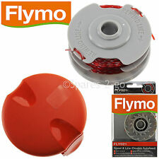 FLYMO Strimmer Trimmer Dbl Auto Spool Line + Cover Cap Revolution 2000 2300 2500