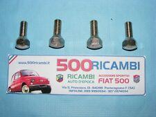 FIAT 500 R 126 EPOCA KIT 4 BULLONI RUOTA CONICI CROMATI FISSAGGIO CERCHI FERRO