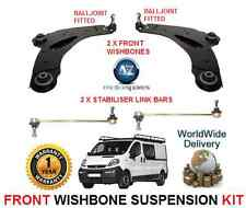 POUR OPEL VIVARO AVANT 2 FOURCHETTE BRAS 2 BARRE ANTI-ROULIS BARS KIT SUSPENSION