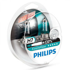 2x H7 Philips X-treme Vision +130 55W Halogen Car Headlight Bulbs European