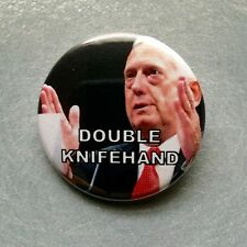 "Double Knife Hand Mad Dog Mattis Marine Pinback Button - 1.5"" - Free Shipping"