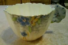 Royal Paragon Pansy Handle Cup Blue and Yellow *RARE *