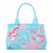 Crystal Dream Mermaid Ariel Sebastian Tote Bag Shell Blue Disney Store Japan