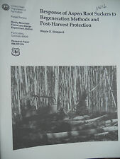 Response of Aspen Root Suckers to regeneration methods and post-harvest protec