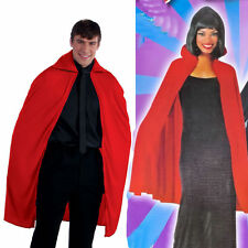 """Cape RED Vampire 45"""" Long - Adult Fancy Dress Costume One size up to 42"""" chest"""
