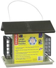 NEW HIATT 38073 LARGE HOPPER COMBO BIRD FEEDER SUET HOLDER BIRD FEEDER 3026945