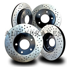 HON018SD Civic Si Hatchback 02-03 Rotors Front + Rear Cross Drill & Dimple Slots