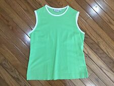TAIL Athletic Golf Tennis Green Tank Sleeveless Top Blouse Size S