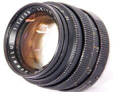 LEICA Summilux 1:1.4/50mm F1.4 ( Leitz 11114 ) Made in 1977 + 12586 Lens Hood