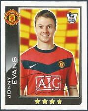TOPPS 2010 PREMIER LEAGUE - #303-MANCHESTER UNITED/NORTHERMN IRELAND-JONNY EVANS