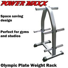 POWER MAXX Olympic Weight Plate Rack Stand Tree Storage