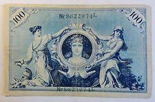 Reichsbanknote - 100 / Ein Hundert Mark - 1908 - Kaiserrreich - Siegel grün (K84