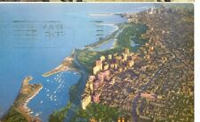 CHICAGO,ILLINOIS-LOOKING SOUTH FROM GOLD COAST-AMERICAN AIRLINES-1957(MP-881)