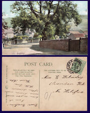 UK YORKSHIRE KEIGHLEY POSTED TO MISS WALMSLEY, OVENDEN, ROAD, HALIFAX 1905