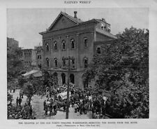 HISTORIC OLD FORD'S THEATRE DISASTER WASHINGTON D. C. REMOVING THE DEAD BODIES