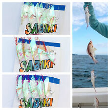 1 pc Sabiki 5 Rainbow Fur Hair Rigs Baits Fishing Hook Lures Catch Mackerel Bass
