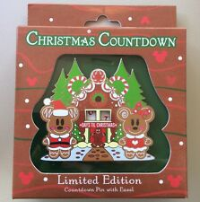 Disney Pin Days Till Christmas Countdown Pin New Mickey And Minnie Gingerbread
