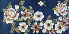 Roses Blue Pink Chic Rich Design Marble Mosaic FL766