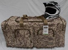XL Motorcycle atv gear bag motocross mx snowmobile digital desert brown camo