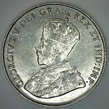 1934 Canadian Imperial Crowned Two Leaf Nickel 5 cent Piece AU