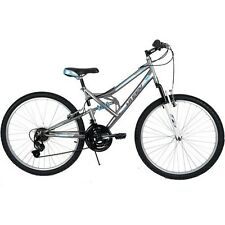 """Womens Mountain Bike 26"""" Full Suspension Bicycle 18 Speed Shimano Shifter Trail"""