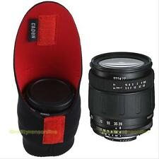 Neoprene DSLR Camera Lens Soft Protector Pouch Bag Case Set S New Black+Red