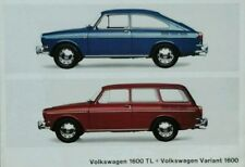 Volkswagen 1600 range Colours & Interiors Brochure -  August 1965