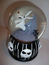 Nightmare Before Christmas Jack Skellington & Zero Musical snow globe