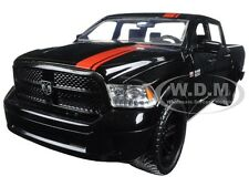 2014 DODGE RAM 1500 PICKUP TRUCK W/EXTRA WHEELS BLACK/RED STRIPE 1/24 JADA 98022
