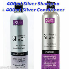 XHC SHIMMER TOUCH OF SILVER PURPLE SHAMPOO & CONDITIONER SET - BLONDE/WHITE HAIR