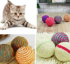 Pet Dog Cat Kitten Teaser Playing Chew Rattling Sound Toys Rope Ball 1PC.
