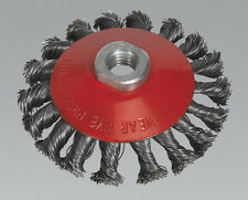 Sealey CWB101 Conical Wire Brush Ø100mm M14 x 2mm