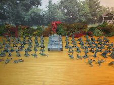 48FP LOT OF 77 PAINTED 1/72 GERMAN WWII PARATROOPERS + DIE CAST PZ IV