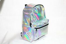 New Women Girl Fashion PVC Hologram Holographic Leather School Backpack Tote Bag