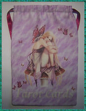 Pink Fairy Toadstool Tarot Card Bag, for most fairy angel Wicca tarot cards