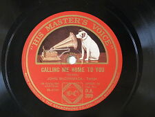 78rpm JOHN McCORMACK calling me home to you / until