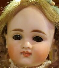 "Antique 15"" Closed Mouth Pouty Kestner Bisque Doll on Orig Early Body w/Chemise"