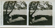 STEREOSCOPIE Stereoview / VUE DE FRANCE LOURDES LAC DE LOURDES