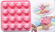 1pc  Pig Heads Silicone Mold For Cake Chocolate Ice jelly Candy Baking Mould