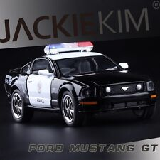 1:38 Ford Mustang Police car Alloy Diecast car Model Toy Vehicle Black 2681
