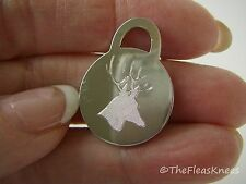 Tiffany & Co. Etched 925 Sterling Silver Charm: Etched Deer