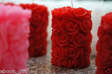 Rose Pillar Candle Used 100% Pure Wax, For Home Decor or Diwali Christmas Gift