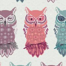 Galería de arte ~ anochecer pájaro de la noche Mist Tela/Acolchar confección con dibujo de búho