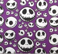 NIGHTMARE BEFORE CHRISTMAS Jack Skellington Face  Polycotton Fabric Per Meter