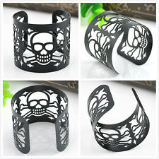Vintage Alloy Rock Gothic Punk Women Chain Skeleton Skull Bangle charm Bracelet
