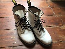 Dr Martens White Leather Boot UK Size 5